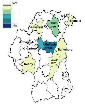 County Armagh Ireland Map.County Armagh Ireland